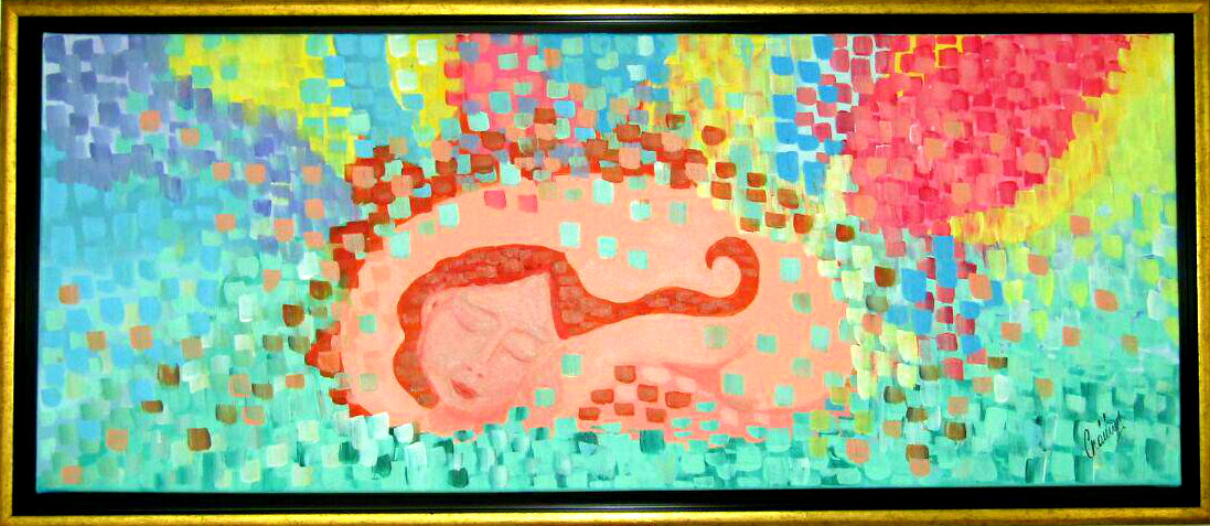 """3. """"Vulnerabilitatea"""" - Autor Crainic Catalina 100x50cm, tehnica acrilic"""